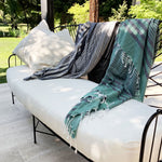 Load image into Gallery viewer, Fethiye Striped Ultra Soft Blanket Throw - Green - Zip & Mos