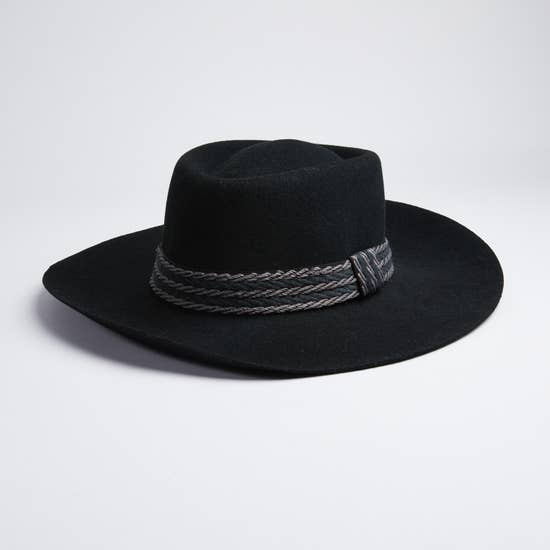 Valencia Country Style Black Felt Hat - Zip & Mos