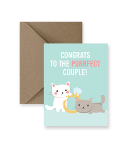 Congrats to the Purrfect Couple Card - Zip & Mos