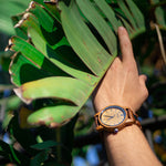 Load image into Gallery viewer, Men's Handmade Engraved Ambila Wooden Timepiece - Zip & Mos