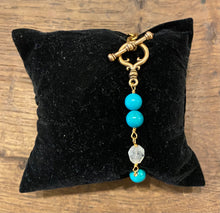 Load image into Gallery viewer, Gold Turquoise bracelet (EVV0002)