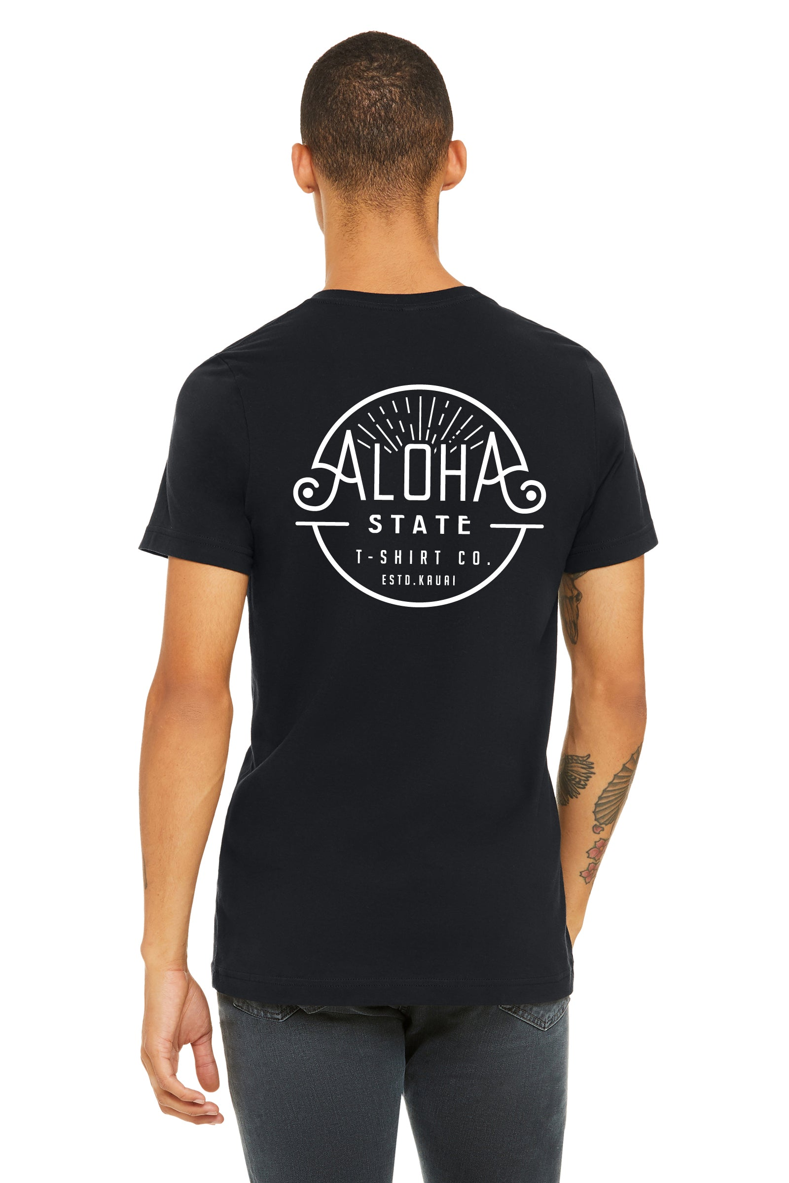 ALOHA STATE LOGO MEN'S T-SHIRT BLACK