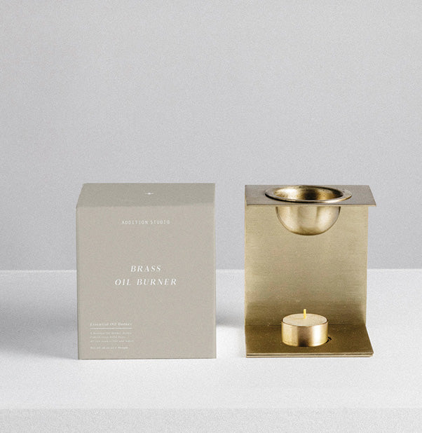 Brass Essential Oil Burner - Addition Studio