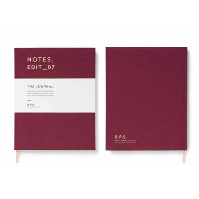 Darling Clementine R.P.S. Blank Notebook - Burgundy