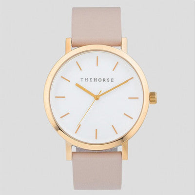 The Horse Watch Original - Rose Gold/Blush Leather New Happy Valley