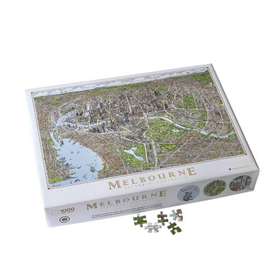 Jigsaw Puzzle - The Melbourne Map 1,000 Pieces