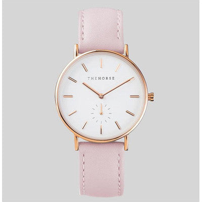 The Horse Watch Classic - Rose Gold/Baby Pink Leather