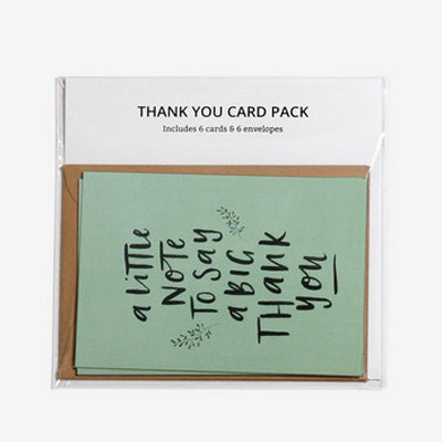 In The Daylight 6 Card Pack - A Little Note To Say A Big Thank You