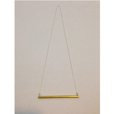 Anna Varendorff Brass Necklace - Small Bar