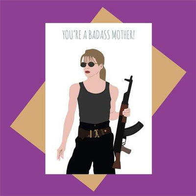 Meet Me In Shermer Card - You're A Badass Mother!