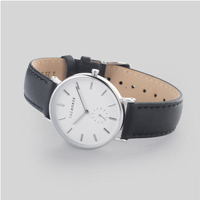 The Horse Watch Classic - White Face/Black Leather