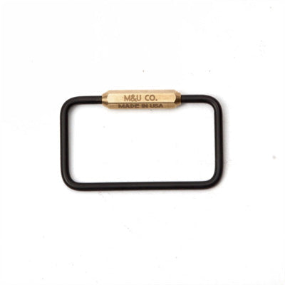 Maxx & Unicorn Co. - Black Oxide 'Rectangle' Keyring