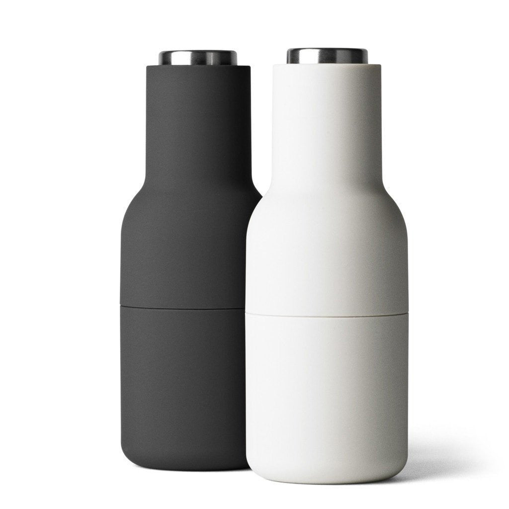 Menu Bottle Grinder Set - Ash + Carbon (Steel Top)