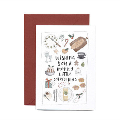 In The Daylight - Wishing You A Merry Little Christmas Dinner Feast Card