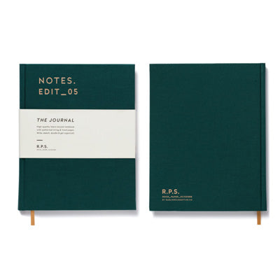 Darling Clementine R.P.S. Lined Notebook - Forest Green
