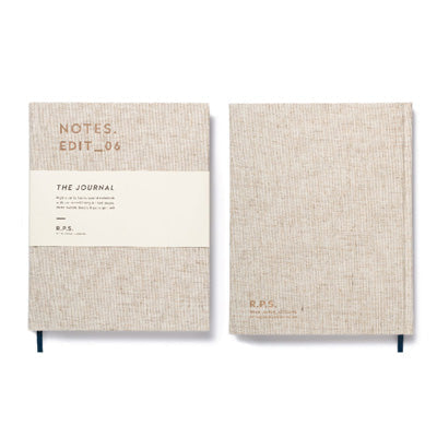Darling Clementine R.P.S. Lined Notebook - Sand