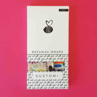 Sustomi Beeswax Wraps - Dreams Design (2 Pack)