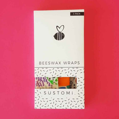 Sustomi Beeswax Wraps - Dreams Design (3 Pack)