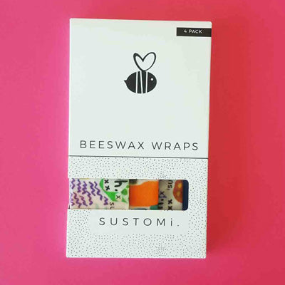 Sustomi Beeswax Wraps - Dreams Design (4 Pack)
