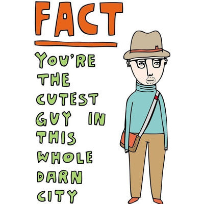 Able & Game Card - Fact You're The Cutest Boy In This Whole Darn City