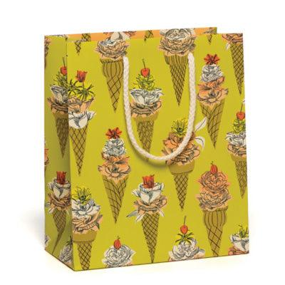 Red Cap Gift Bag - Flower Cones