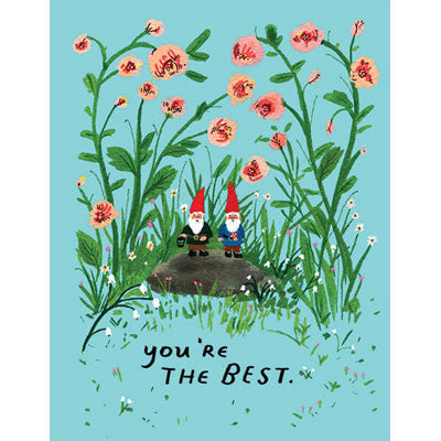 Becca Stadtlander Card - You're The Best (Garden Gnomes)