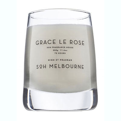 Scent Of Home Candle - Clear Grace Le Rose