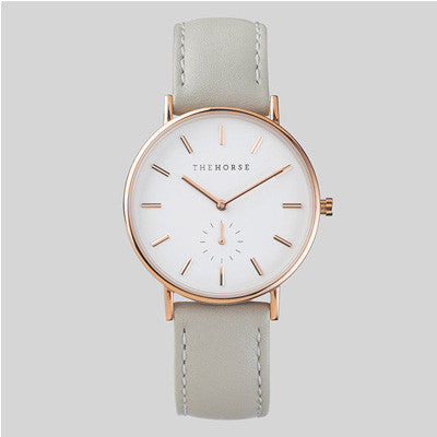The Horse Watch The Classic - Rose Gold / Grey Leather
