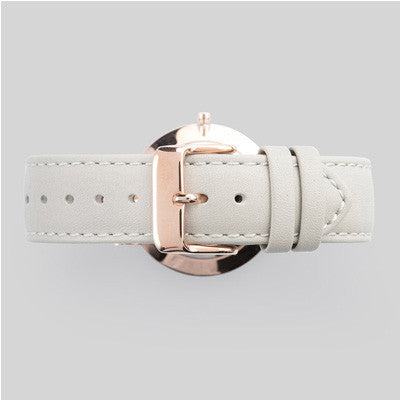 The Horse Watch Classic - Rose Gold Face/Grey Leather