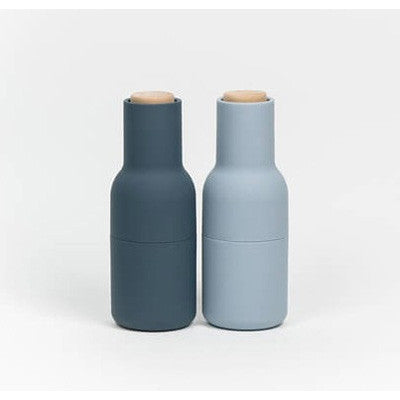Menu Bottle Grinder Set - Blue (Wooden Top)