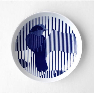 Skimming Stones Porcelain Plate - Helmeted Honeyeater