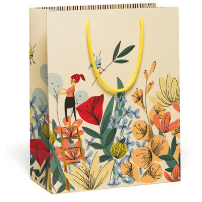 Red Cap Gift Bag - In The Flowers Gift Bag