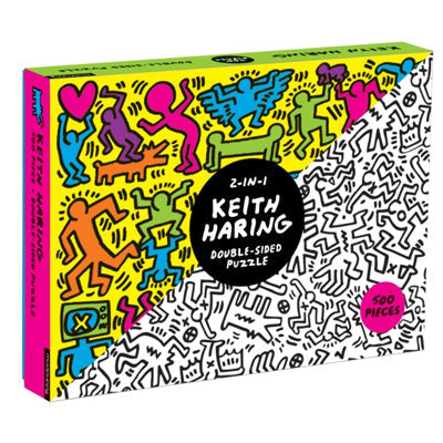 Mudpuppy: 500 Piece 2 In 1 Puzzle - Keith Haring