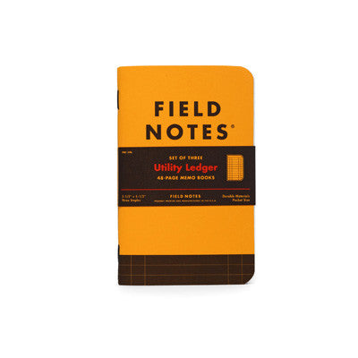 Field Notes - Utility Ledger Notebooks