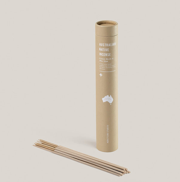 Lemon Myrtle & Blue Gum Incense Sticks - Addition Studio