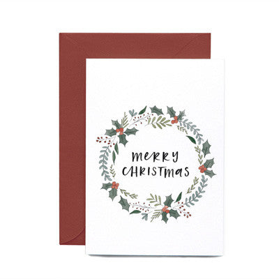 In The Daylight - Christmas Wreath Card