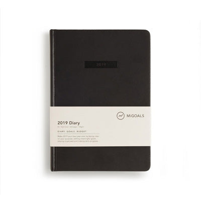 2019 Diary - Mi Goals Black A5 Hard Cover