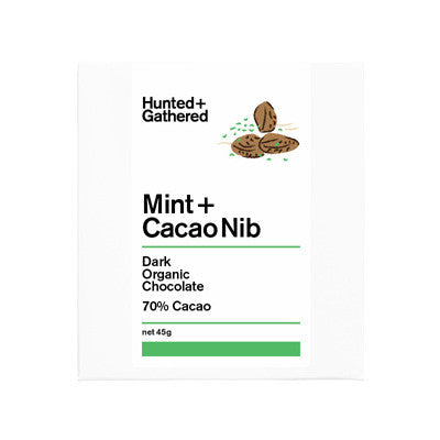 Hunted & Gathered Chocolate - Mint & Cacao Nib