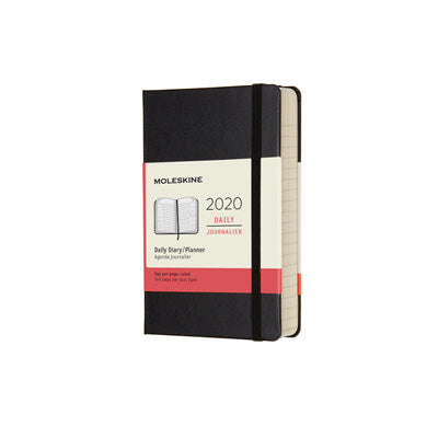 Moleskine 2020 Hard Cover Diary - Pocket Daily (Black)