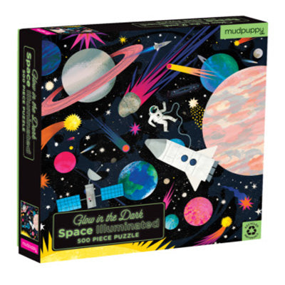 Mudpuppy - 500 Piece Glow In The Dark Puzzle : Space Illuminated