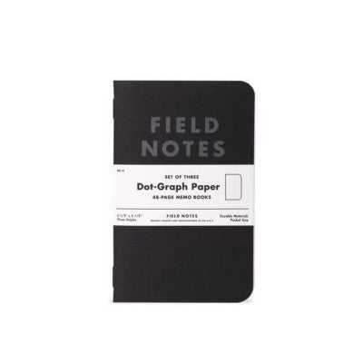 Field Notes - Pitch Black Dot-Graph Notebooks