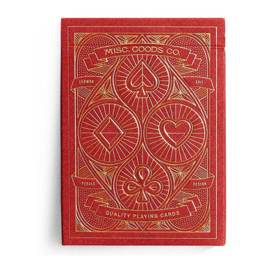 Red Deck Of Playing Cards - Misc. Goods Co.