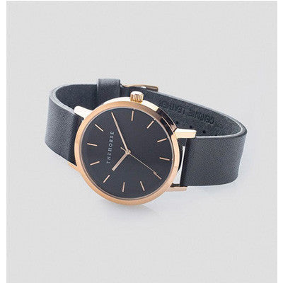 The Horse Watch Original - Rose Gold/Black Leather