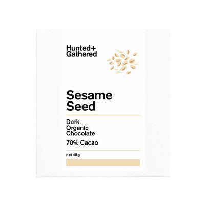Hunted & Gathered Chocolate - Sesame Seed