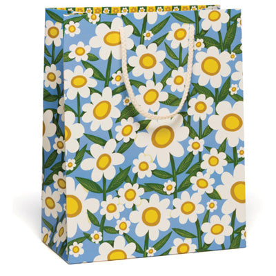 Red Cap Gift Bag - Seventies Daisy