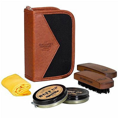 Gentlemen's Hardware - Charcoal Shoe Shine Kit