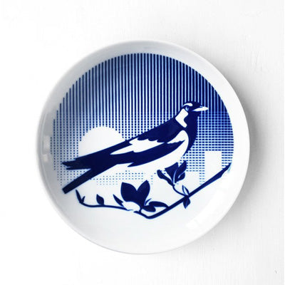Skimming Stones Porcelain Plate - Piping Shrike