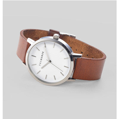 The Horse Watch Original - White Face/Dark Tan Leather