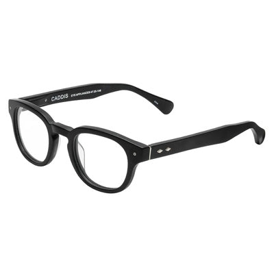 Caddis Reading Glasses - Two Bird Theory Matte Black Design (1.0 Lens)