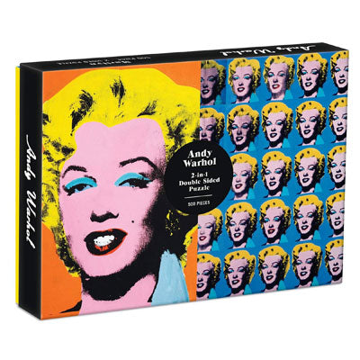 Andy Warhol Marilyn Double-Sided 500 Piece Jigsaw Puzzle
